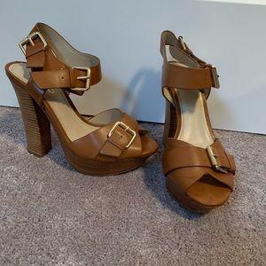 Brown, platform heels
